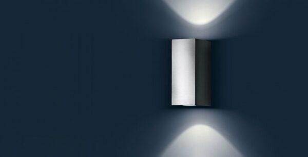 IP44.de Wandaußenleuchte Quantum Edelstahl - Außenleuchten