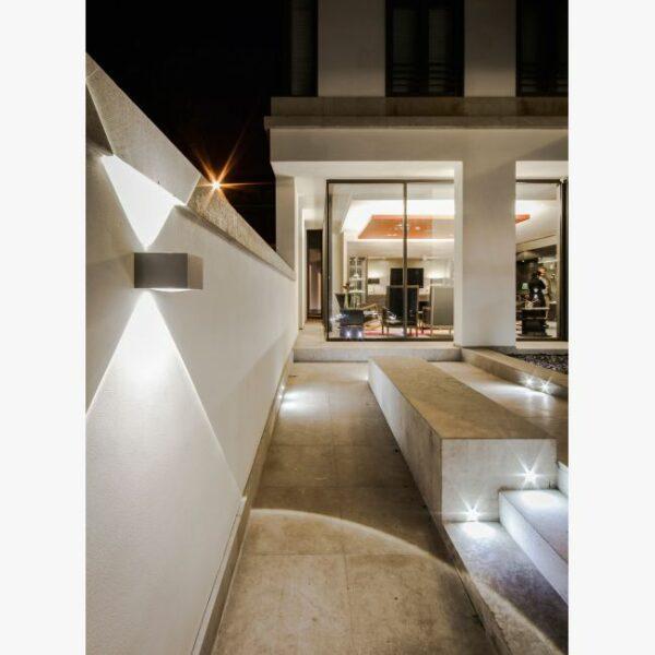 Deltalight Wandaußenleuchte Vision Out Dunkelgrau - Lampen & Leuchten