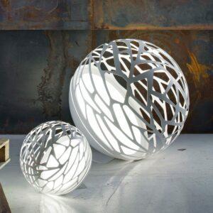Studio Italia Design Boden-/ Stehleuchte Kelly Sphere Large Weiß matt