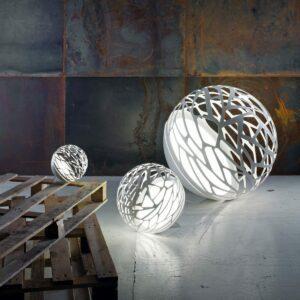 Studio Italia Design Boden-/ Stehleuchte Kelly Sphere Small Weiß matt