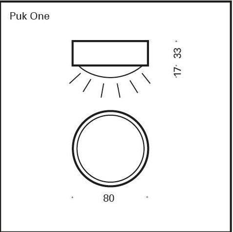 Top Light Body zu Wand- und Deckenleuchte Puk One LED ohne Zubehör - Deckenleuchten Innen