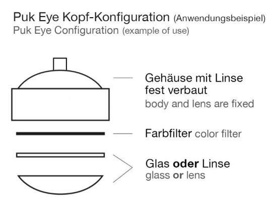 Top Light Pendelleuchte Puk Drop Solo Halogen Kopfkonfigurator