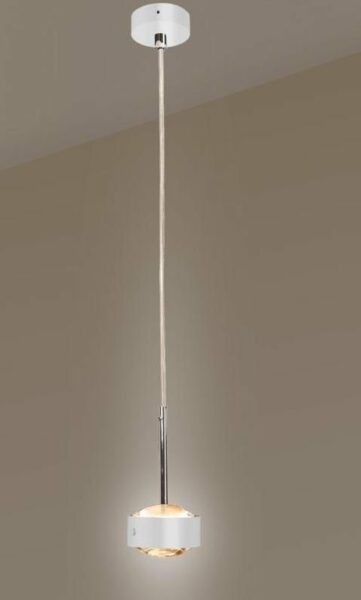 Top Light Pendelleuchte Puk Drop Solo Halogen Weiß