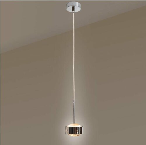 Top Light Pendelleuchte Puk Drop Solo Halogen Chrom