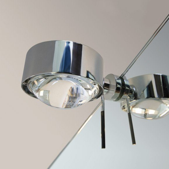 Top Light Spiegel-Schraubklemmleuchte Puk Fix + Halogen Chrom