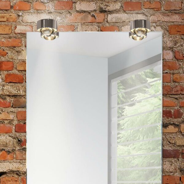 Top Light Spiegel-Schraubklemmleuchte Puk Fix Halogen Chrom