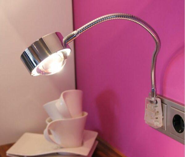 Top Light Steckerleuchte Puk Flexlight Plug LED Chrom
