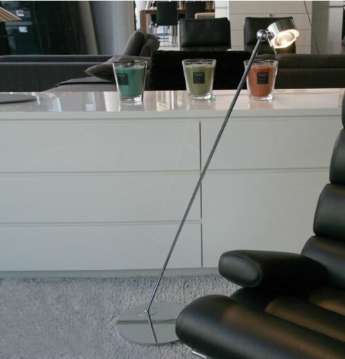 Top Light Stehleuchte Puk Floor Single Mini Halogen Chrom