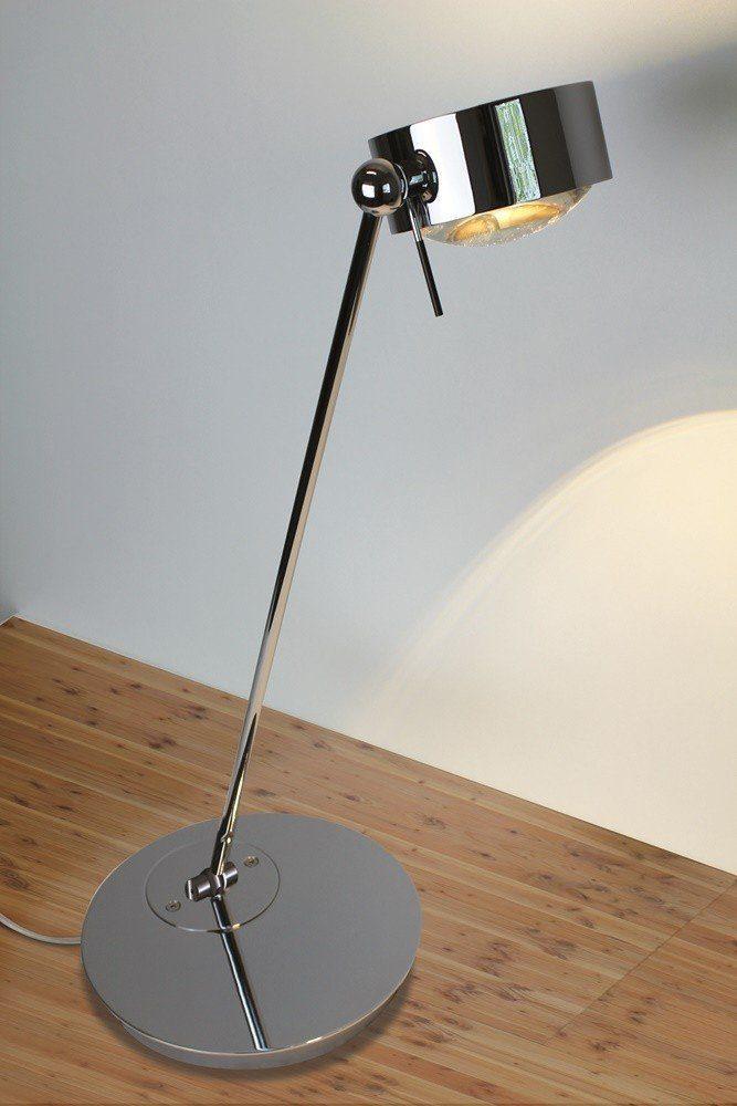 Top Light Tischleuchte Puk Table Single LED Chrom