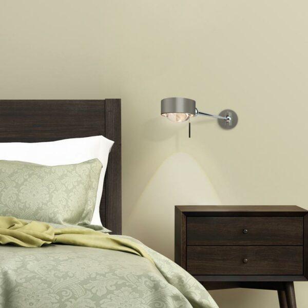 Top Light Wandleuchte Puk Hotel LED Nickel matt