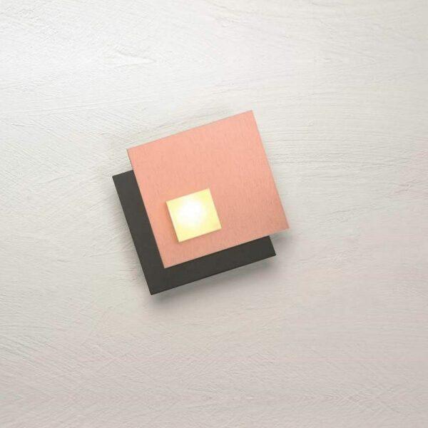 Bopp Deckenleuchte Pixel 1-flammig Schwarz-Rosegold