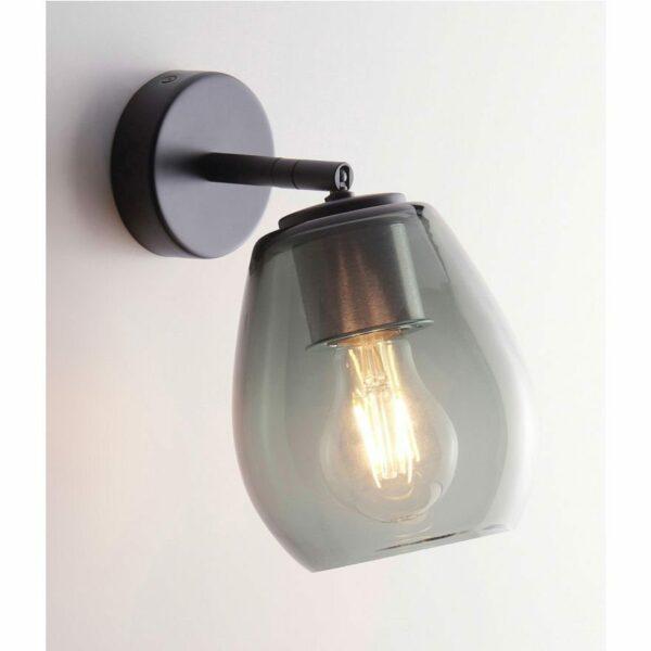 Casablanca Wandleuchte Bagan Aluminium Schwarz matt - Lampen & Leuchten