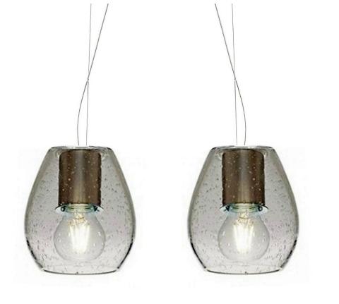Casablanca Pendelleuchte Bagan Evolution 2-flammig Glas Crystal/Sparkling - Lampen & Leuchten