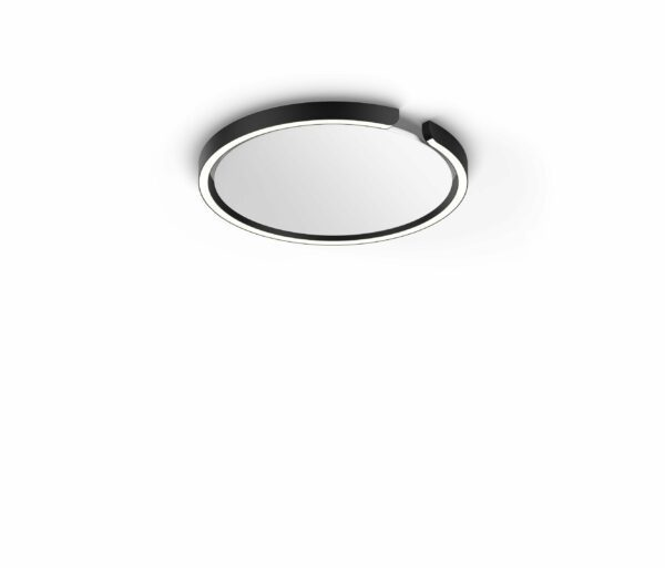 Occhio Deckenleuchte Mito soffitto 40 up narrow Schwarz matt