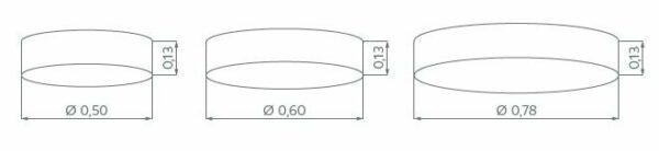 Hufnagel Deckenleuchte Alea Hellgrau, 3 Größen - Esszimmer-Leuchten