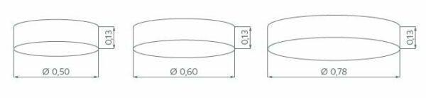 Hufnagel Deckenleuchte Alea Taupe, 3 Größen - Deckenleuchten Innen