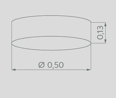 Hufnagel Deckenleuchte Alea Weiß 50 cm