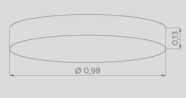 Hufnagel Deckenleuchte Alea Weiß 98 cm