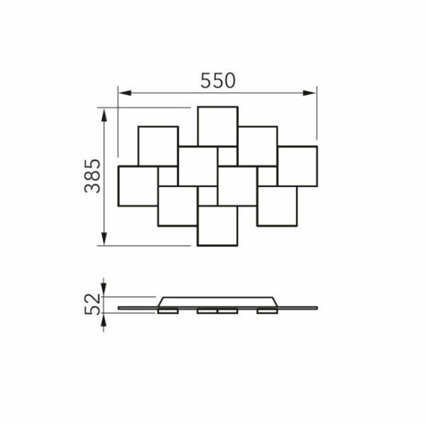 Grossmann Deckenleuchte Creo 4-flammig rechteckig - Lampen & Leuchten