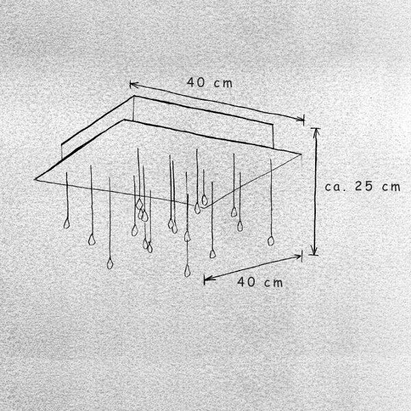 Escale Deckenleuchte Crystal Rain 40 cm - Lampen & Leuchten