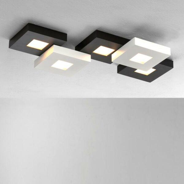 Deckenleuchte Cubus 5-flammig HV LED Schwarz-Weiß