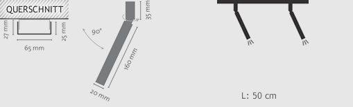 LDM Aufbau-Deckenleuchte Ecco LED Spot Duo - Deckenleuchten Innen