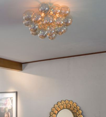 By Rydéns Deckenleuchte Gross Plafond Durchmesser 50 cm Amber (bernsteinfarbig)