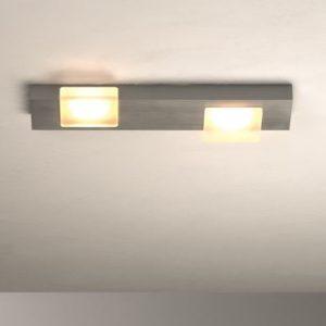 Bopp Deckenleuchte Lamina 2-flammig dimmbar HV-LED Aluminium geschliffen