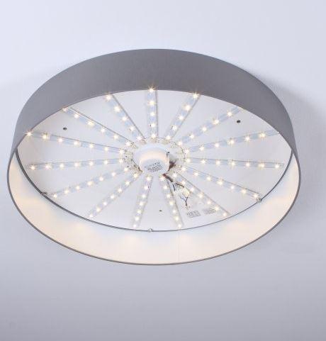 Hufnagel Deckenleuchte Luna LED Hellgrau, 3000 K, 4 Größen - Deckenleuchten Innen