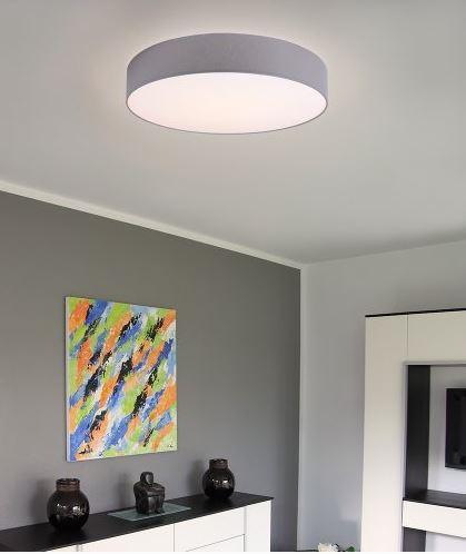 Hufnagel Deckenleuchte Luna LED Hellgrau, 3000 K, 4 Größen - Deckenleuchten Büro