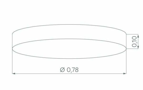 Hufnagel Deckenleuchte Luna LED Hellgrau, 3000 K, 4 Größen - Deckenleuchten Innenbereich