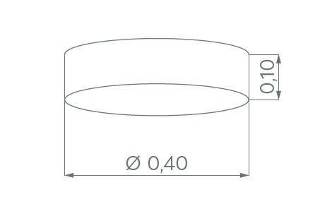 Hufnagel Deckenleuchte Luna LED Schiefer, 2700 K, 4 Größen - Deckenleuchten Innenbereich