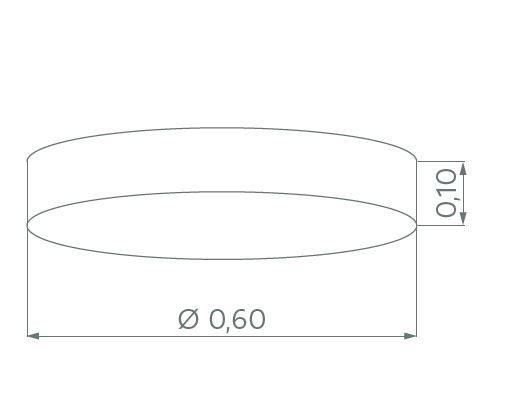 Hufnagel Deckenleuchte Luna LED Schiefer, 3000 K, 4 Größen - Deckenleuchten Innenbereich