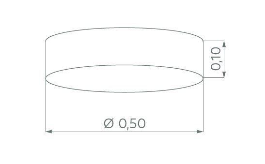 Hufnagel Deckenleuchte Luna LED Schiefer, 3000 K, 4 Größen - Deckenleuchten Innen