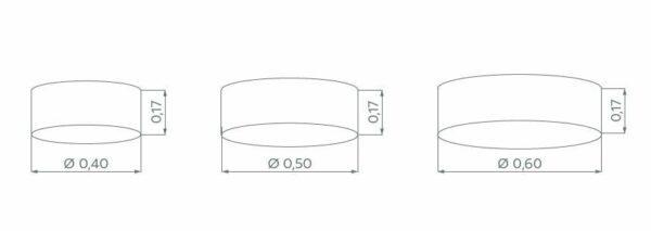 Hufnagel Deckenleuchte Mara Hellgrau, Schirmhöhe 17 cm, 3 Größen - Deckenleuchten Innen