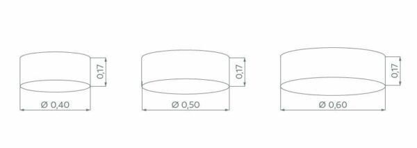 Hufnagel Deckenleuchte Mara Weiß, Schirmhöhe 17 cm, 3 Größen - Deckenleuchten Innen