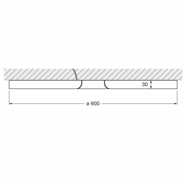 Occhio Deckenleuchte Mito soffitto 60 up narrow - Lampen & Leuchten