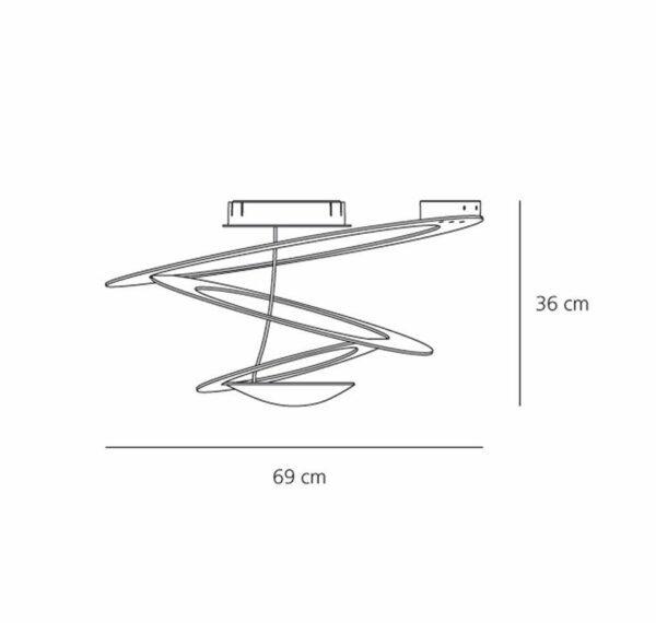 Artemide Pirce Mini Soffitto LED Maße