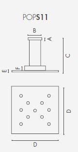 Icone Pendelleuchte Pop S11 Quadratisch 3000 K - Pendelleuchten