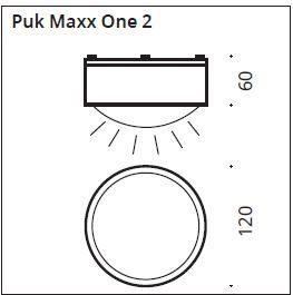 Top Light Deckenleuchte Puk Maxx One 2 LED Maße