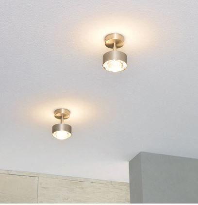 Top Light Deckenleuchte Puk Turn LED Nickel matt