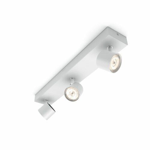 Deckenleuchte-Star-3-flammig-Weiß-Warmglow-Spot-LED