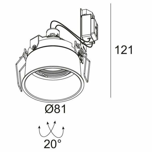 Deltalight Deckeneinbauspot Diro ST OK - Lampen & Leuchten