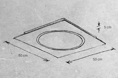 Escale Deckenleuchte Skyline 30060609 Maße