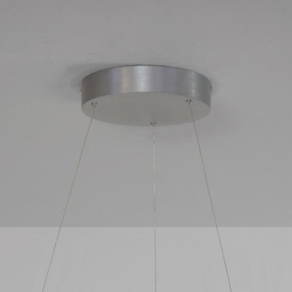 Escale Pendelleuchte Infinity Aluminium Sandstrahloptik Baldachin Detail