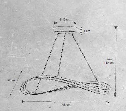 Escale Pendelleuchte Infinity Durchmesser 105 cm Maße