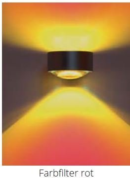 Top Light Farbfilter für Leuchte Puk Maxx Lens und Light Finger Rot