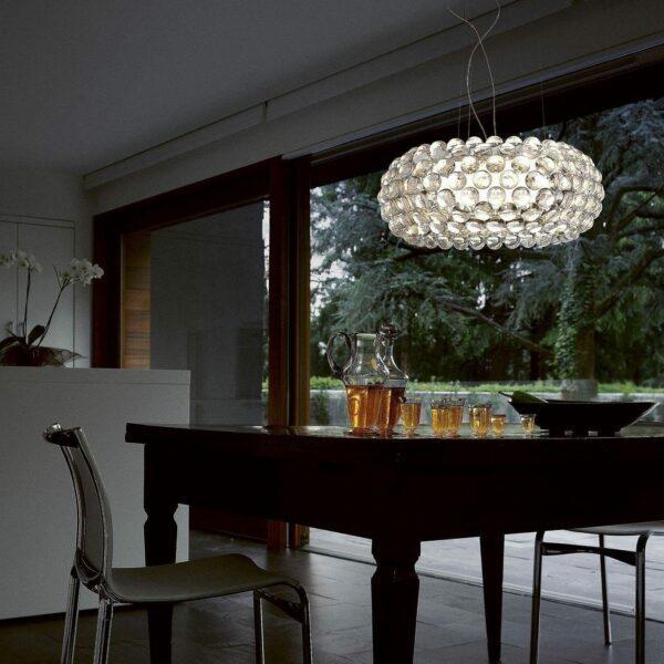Foscarini Pendelleuchte Caboche Grande Plus LED Transparent Milieu