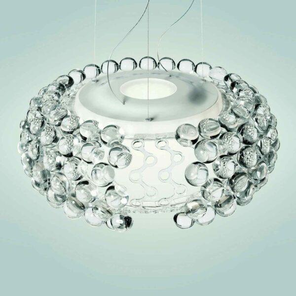 Foscarini Pendelleuchte Caboche Grande Plus LED Transparent Detail