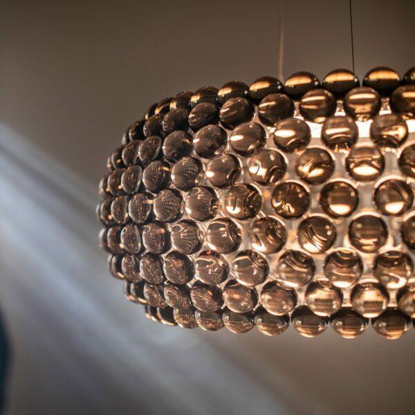 Foscarini Pendelleuchte Caboche Grande Plus LED Grau Milieu